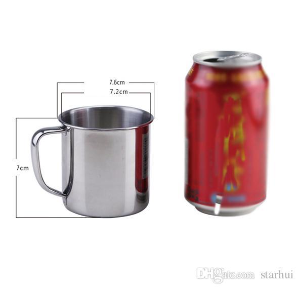 250Ml 스테인레스 스틸 커피 차 머그컵 캠핑 여행 직경 7cm 맥주 우유 에스 프레소 절연 Shatterproof 어린이 컵 WX9 - 303