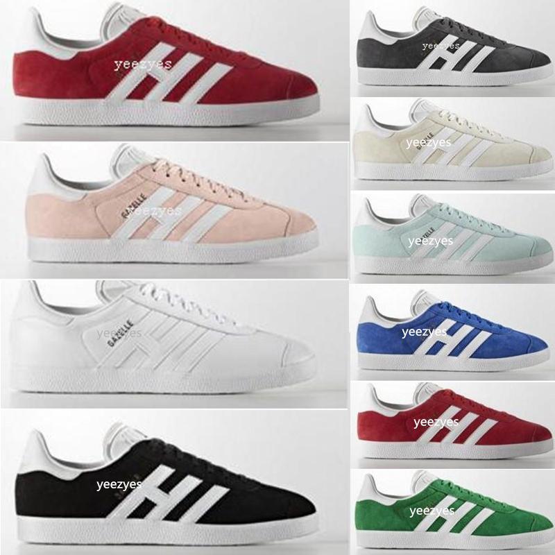308be44123c Compre 2018 Adidas Gazelle Hombres Y Mujeres Zapatos Gazelle Gamuza Low Cut  Zapatos Planos Ocasionales Marca Zapatillas De Deporte Para Zapatillas  Unisex ...