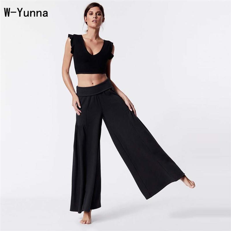 Compre W Yunna Nuevo 2018 Moda Mujer Ropa De Verano Sexy Cuello Redondo  Chaleco Negro Transpirable Culottes Color Sólido Chándal Informal D1892502  A  34.84 ... 0f15cb03af1