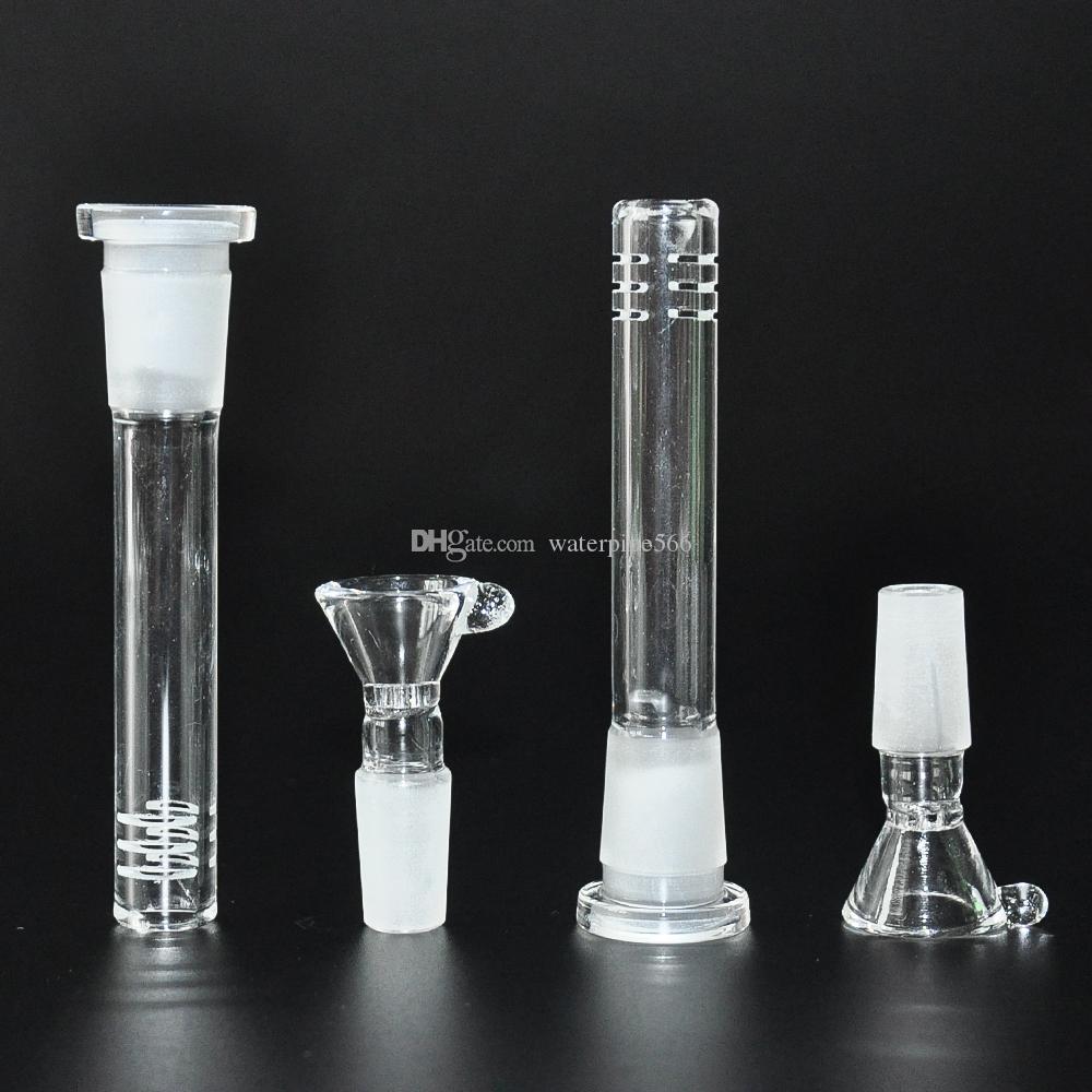 стекло водопроводные трубы 14.4 mm стеклянной миске с 18.8 мм стеклянная для отражетеля СОТа аксессуары для силиконовый водопровод