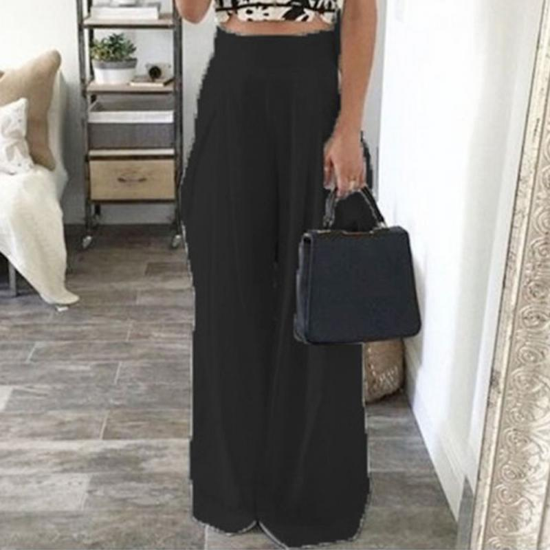 2017 New Brand Design Women pants casual wide leg pants Harem Loose Long Pant Ladies Palazzo Trousers Solid Color