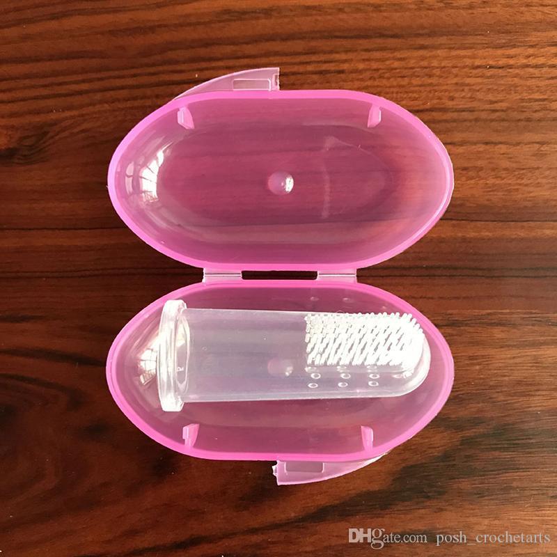 Brosse à dents ultra douce pour bébé Brosse à dents à doigts pour bébés Masseur buccal pour nourrissons Gommage Frottant Brosse à dents souple pour bébé