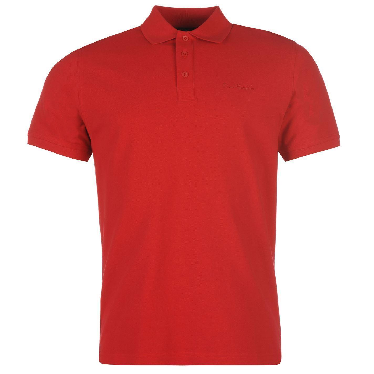9177a6b3fcc Pierre Cardin Plain Polo Shirt Mens Red Collar T Shirt Top Tee Casual Wear  Online T Shirt Printing On T Shirts From Jacobdesigning