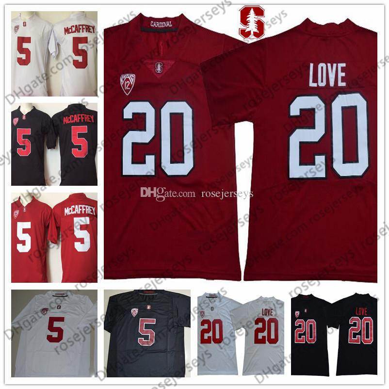 301e65ce NCAA Stanford Cardinal Bryce Love Jersey #20 Black Red White College  Football Stitched 5 Christian McCaffrey 22 Blue Hot Sales Men's Jerseys