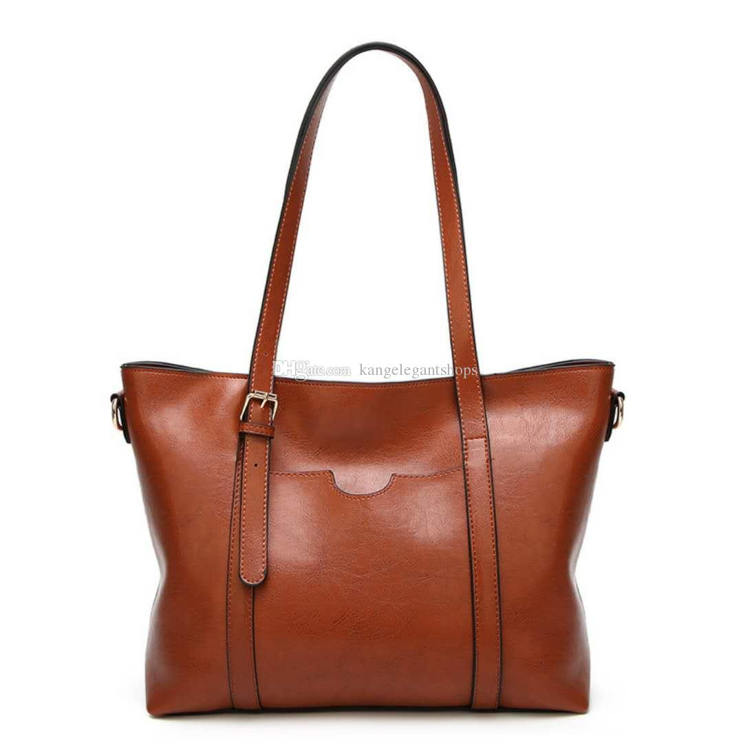 c29c7d2220 Women Casual Tote Genuine Leather Handbag Bag Fashion Vintage Large  Shopping Bag Designer Crossbody Bags Big Shoulder Bag Female Women Casual  Tote Leather ...