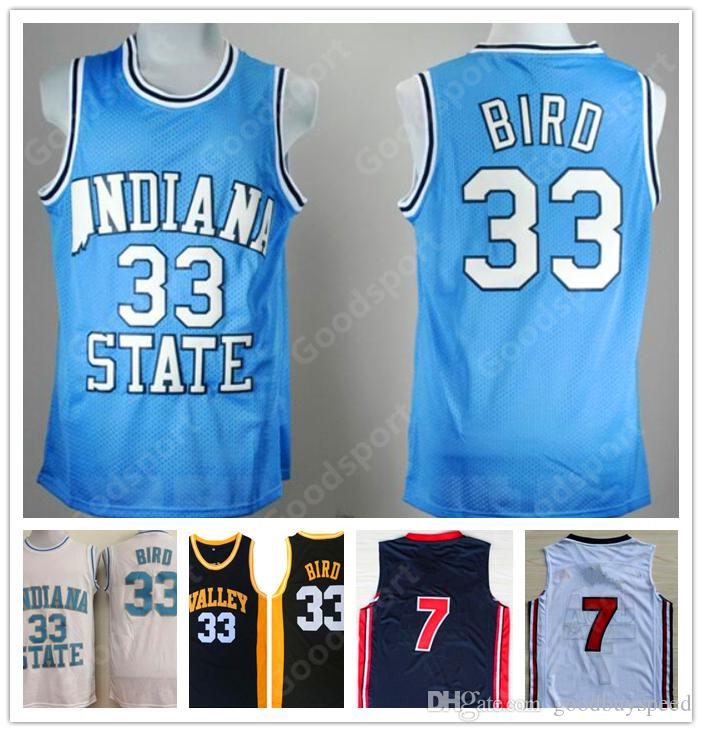 3333eeb19ec7 2019 HOT INDIANA State College NCAA Stitched 33 Larry Bird Stitched  Embroidery Swingman Jerseys SHORTS SHIRTS Cheap Sport Basketball KID YOUTH  From ...