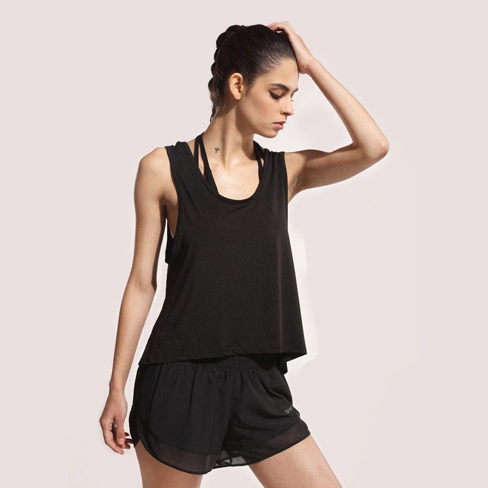 Acheter Sexy Femmes Gym Sport Vestes Hauts Exercices De Formation Ouvert  Retour Lâche Respirant Séchage Rapide Yoga Fitness T Shirts Sans Manches De   20.2 ... 9564231e5ae