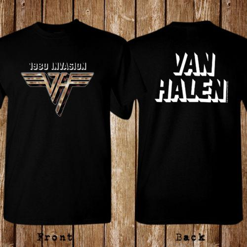 118ef7f550a Invasion 1980 World Tour Van Halen Balck T Shirt Unisex New 2018 Hot Summer  Casual T Shirt Printing Tees Chinese Style 100% Cotton Shirts Online T Shirt  ...