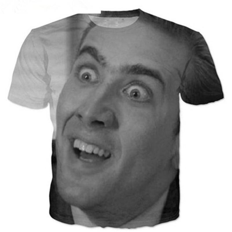 70dc66778cf80 Newest Fashion Nicolas Cage T Shirt Funny 3D Printed Women Men Short Sleeve  Unisex T Shirt Casual Tops K186 Designer Shirts White Shirts From  Superman201898 ...