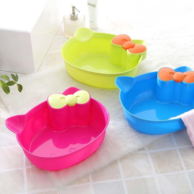 2018 Baby Wash Basin Foot Bathtub Cartoon Face Basin Washtub Plastic ...