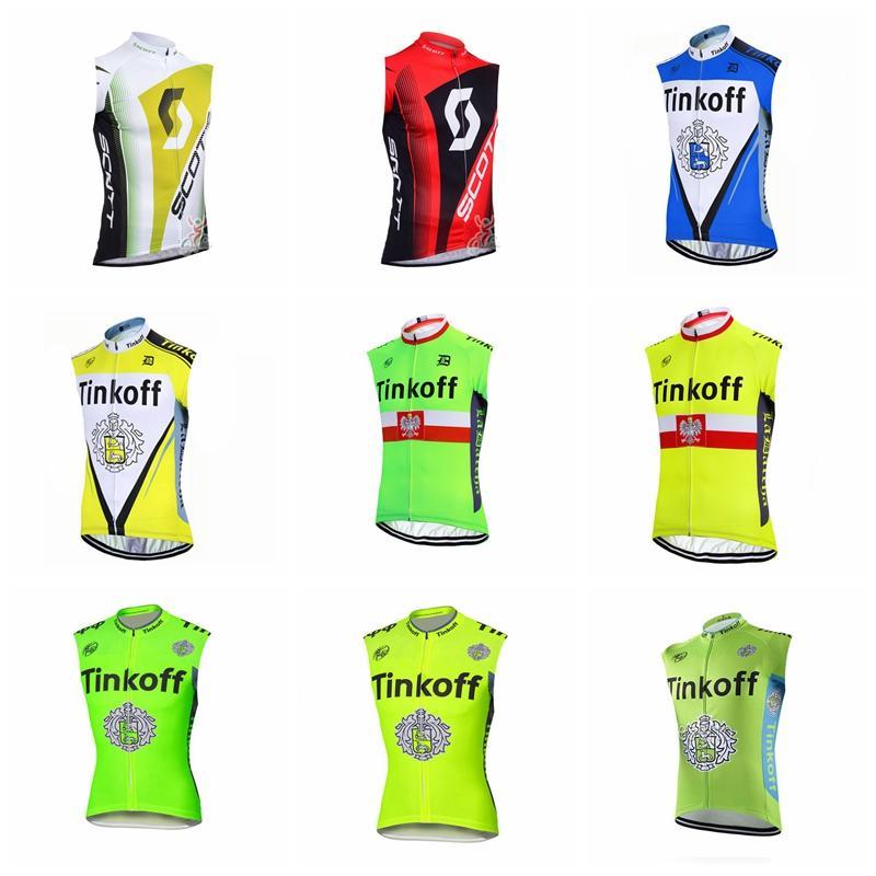 SAXO BANK TINKOFF SCOTT Team Cycling Sleeveless Jersey Vest ... 1e60c1ae7