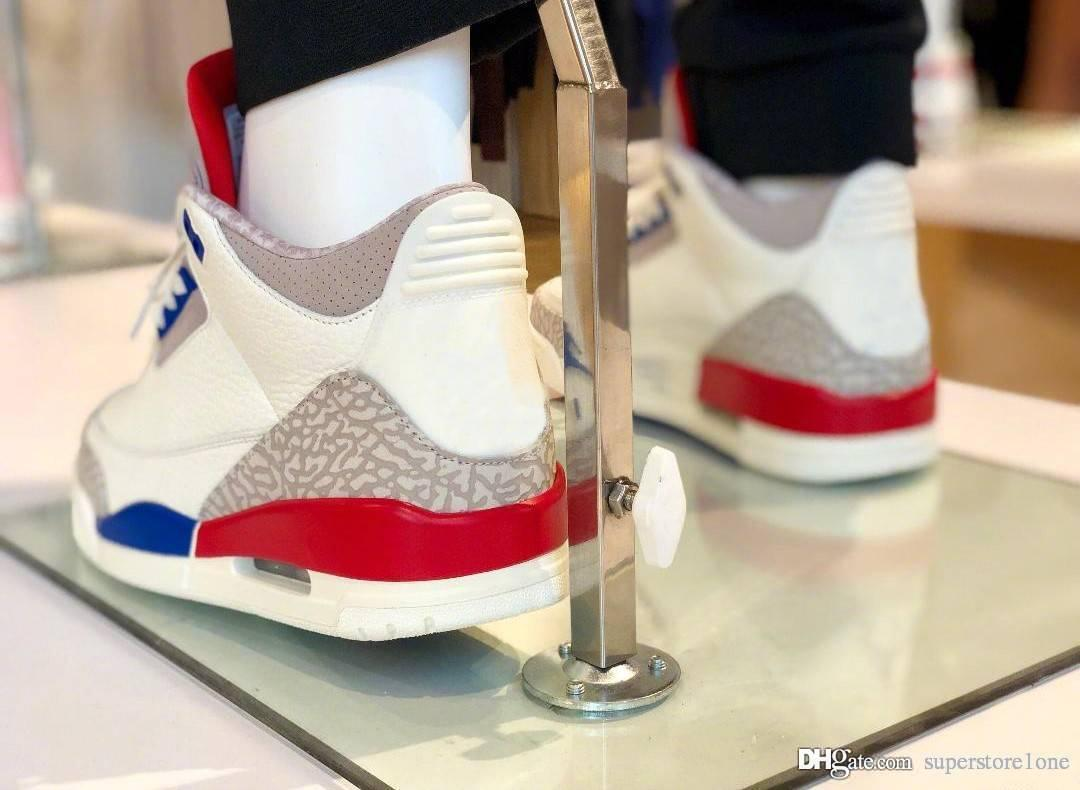 9d84bf0f3850 3 USA Charity Game White Cement Blue Red International Flight 3S Men  Basketball Shoes 136064 140 Authentic Quality Sneakers Shoes With Box  Canada 2019 From ...