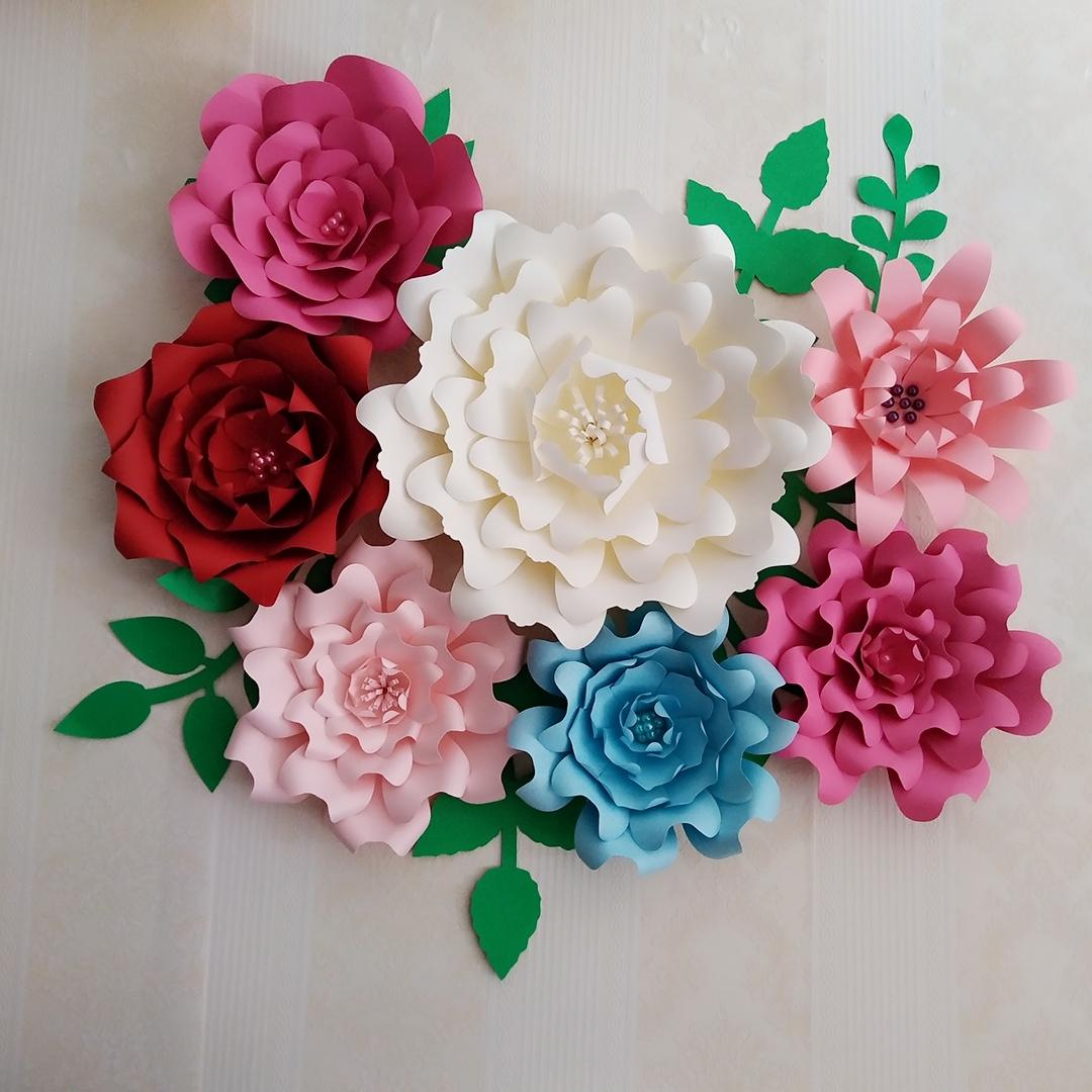 Giant Paper Flowers Wedding: 2019 Giant Paper Flowers Large Half Made Rose Flower Kits