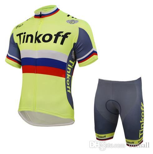 2018 New Sale Tinkoff Saxo Cycling Jerseys Set Short Sleeve With ... 794062634