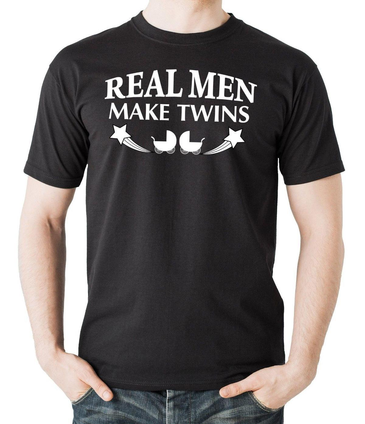 6b7e2e17 Real Men Make Twins T Shirt Funny Gift For New Father Dad Maternity Father'S  Day Best T Shirt Sites T Shirt Shopping From Linnan00002, $14.67| DHgate.Com