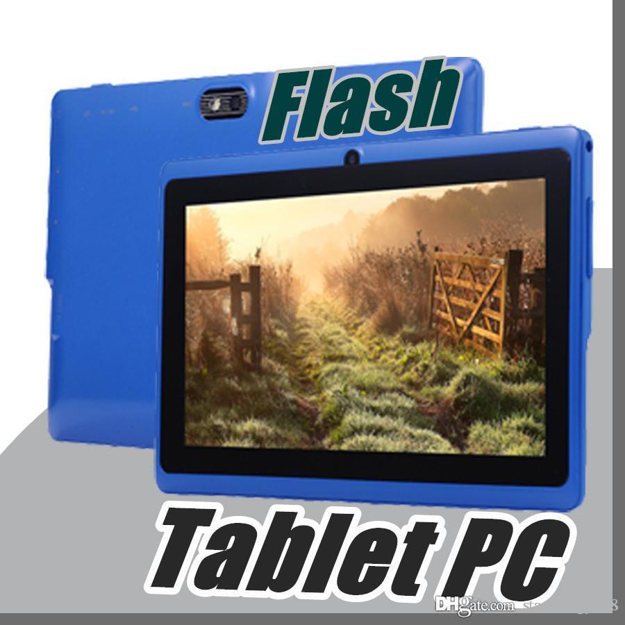 10X Allwinner A33 Quad Core Q88 Q8 Tablet PC Dual Camera 7 7Inch capacitive  screen Android 4 4 512MB 8GB Wifi Google play store flash C-7PB