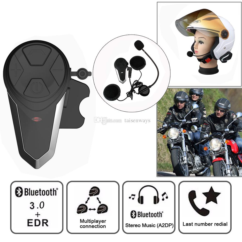 new Motorcycle Intercom BT-S3 Helmet Headsets Wireless Bluetooth Interphone Handsfree Waterproof FM Radio 5 languages Manual