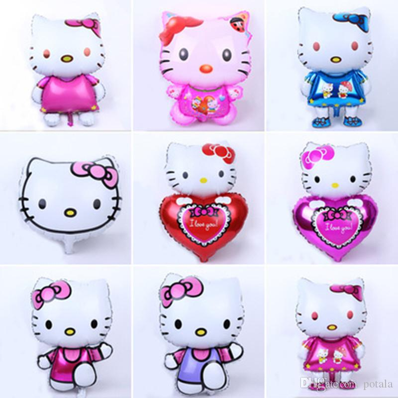 26inch Foil Aluminum Balloons 7560cm Hello Kitty Decor Wedding Birthday Party Decoration Inflatable Air Ballons Hellokitty For Kids Gift In A Box