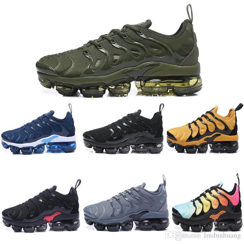 ee0ace5a19e 2019 2018 Mens Sneakers Shoes Classic TN Men Shoes Black White ...