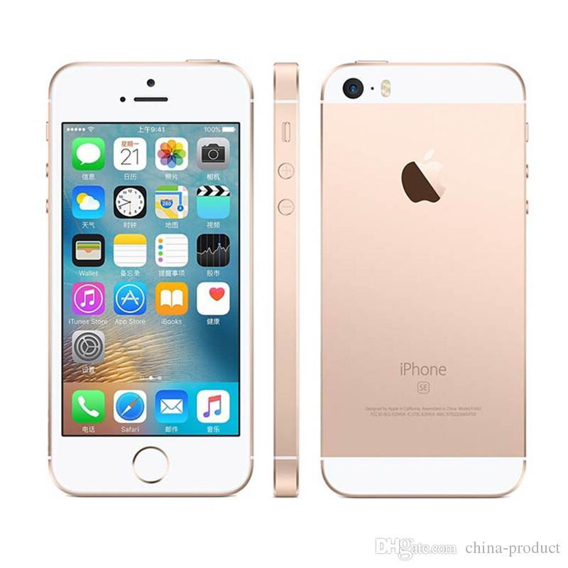 "Original iPhone SE Unlocked IOS Dual Core SmartPhone 2GB RAM 16GB 64GB ROM 4.0"" 12MP Refurbished cellphone with sealed box"