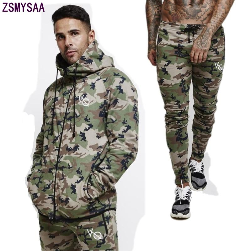 57e6aa5457cd 2018 Men s Sets Sweatsuits Mens Tracksuit Pullover Hoodie And Pants ...