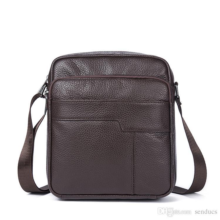 Genuine Leather Men s Shoulder Bag Zipper Flap Men s Bag Leather Men  Messenger Bags Vintage Crossbody Bags for Men Shoulder Bags Men Backpack  Genuine ... 2490fa5765ddb