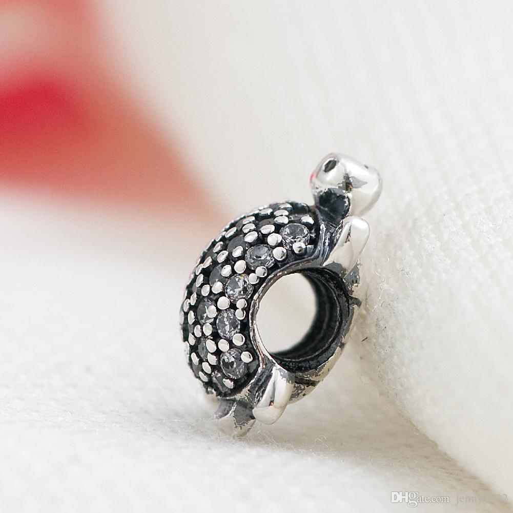 MOQ Gold Silver Car dog Frog Turtle Animal Hanging Bead Charms fit Original Pandora Bracelet Jewelry DIY makeing N115