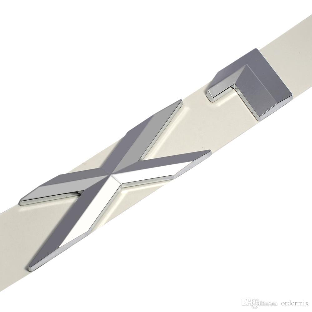 3D Plástico Logotipo Cromado Prata Cauda Carta Emblema Emblema Etiqueta Decoração para BMW X1 X3 X5 X6 E83 F25 GT Acessórios Styling
