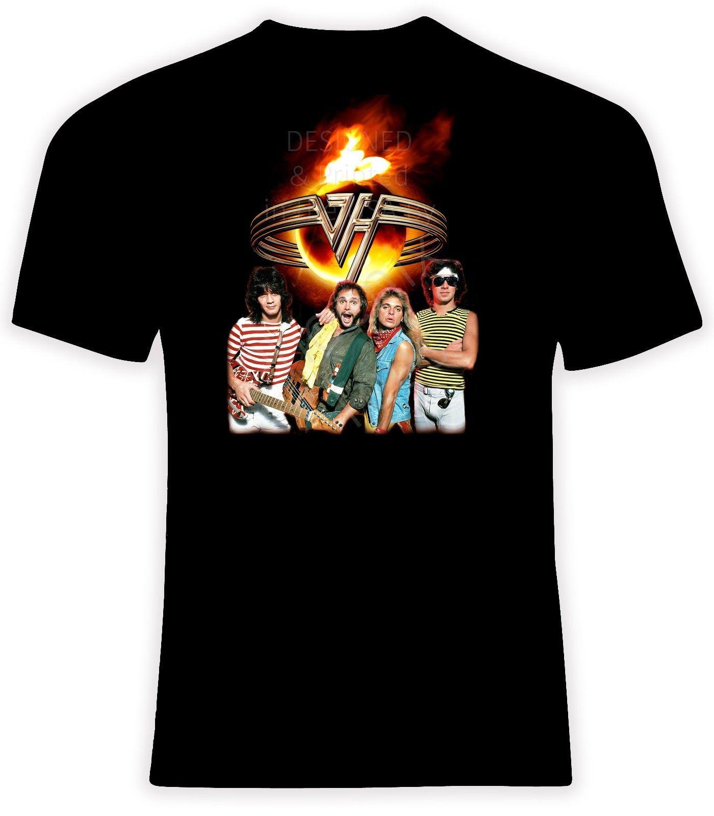 bead7e4d3fae Van Halen With David Lee Roth T Shirt, Sizes S 6X, Short Or Long Sleeve  Designer White T Shirt Printed T Shirts Funny From Beidhgate07, $11.01   DHgate.Com
