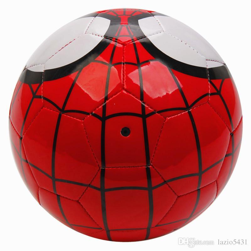 Marvel araña de color rojo de fútbol hombre máquina PVC Tamaño del juego de entrenamiento balón de fútbol 5 del hombre araña para niños Estudiante