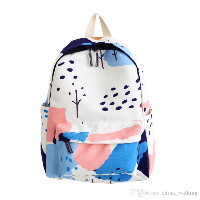 bbb1ab13e910 New Arrival Women Canvas Sweet Casual Backpack Fashion Mochila For ...