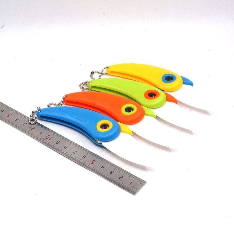Mini Bird Style Pocket Folding Knife Kitchen Fruit Paring Knife Ceramic Blade ABS Handle Outdoor Camping Household Multitool