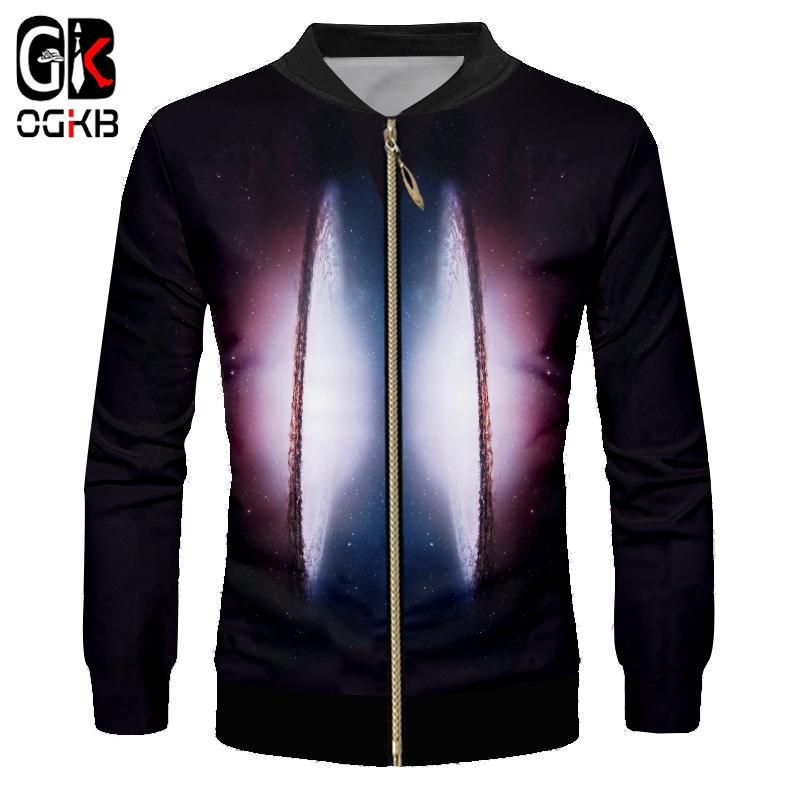 Cheap OGKB Mens Casual Jackets New Fashion Prin Space Planet 3d Jacket Coats  Homme Regular Slim Fit Outwear Clothes For Male Wholesale 2386b79dc