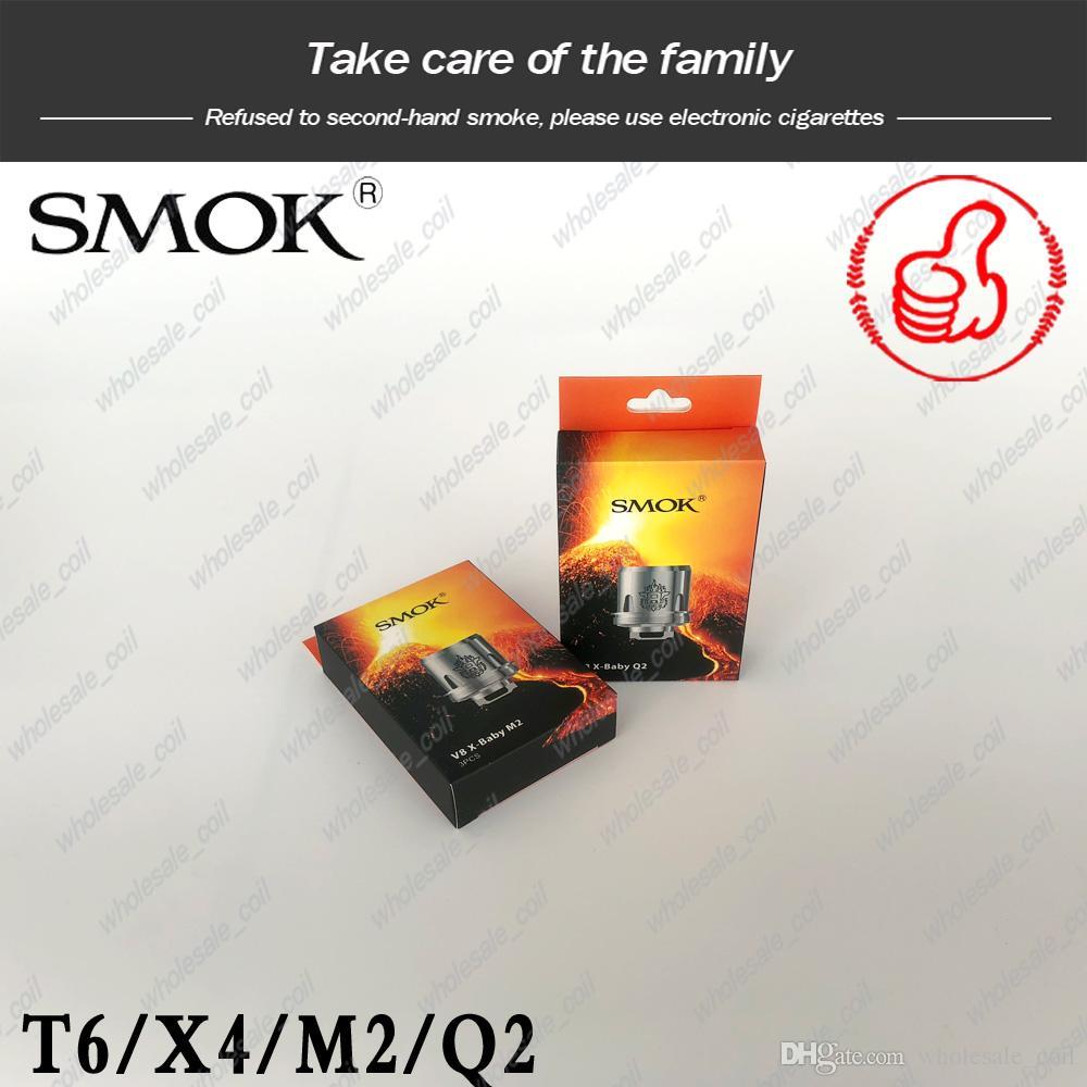 SMOK TFV8 X-Baby Coil for 4ML TFV8 X-Baby Beast Tank V8 Baby X Q2 0.4ohm T6 0.2ohm V8 X M2 0.25ohm X X4 Core Pack 100% Original