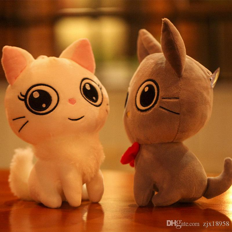 2019 Yiwu Toy Cute Cat Lovers Plush Toys Creative Children Birthday Gift Doll Wholesale Customization Valentines Affordable Good Happy