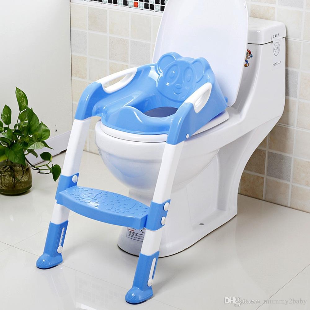 fc5527d5b 2019 Folding Baby Potty Training Chair With Adjustable Ladder Baby Children  Kids Boys Girls Potty Seat Baby Toilet Seat With Adjustable Ladder From ...