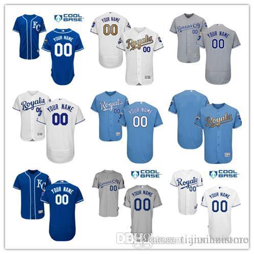 e0c36789 2016 Flexbase Custom Men's Ks City Royals Majestic Authentic Collection  Personalized cool base Stitched Baseball Jersey SIZE S-3XL