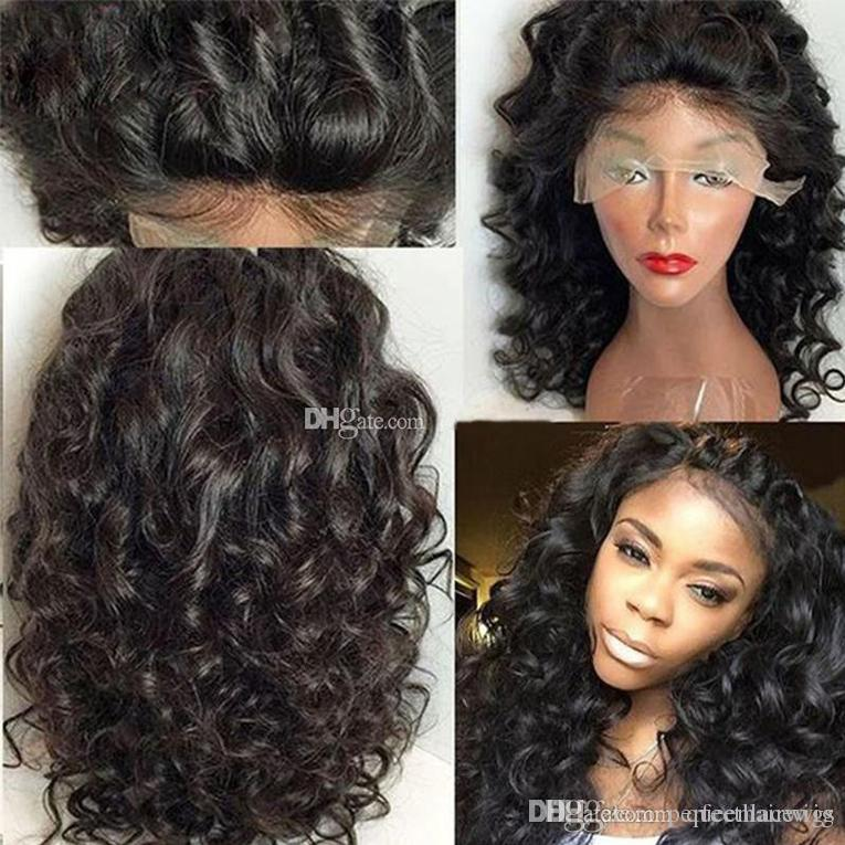 Hot Sexy Top Quality Black Short Bob Curly Wavy Lace Front Wigs Heat  Resistant Glueless Synthetic Lace Front Wigs For Black Women Best Synthetic  Lace Wigs ... 52ce9c3e3d