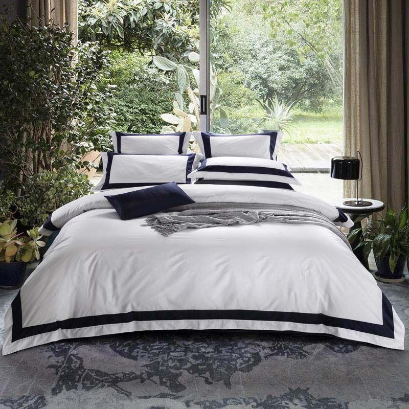Großhandel Luxus Hotel Bettwäsche Sets Bett Set Einfarbig Bettbezug