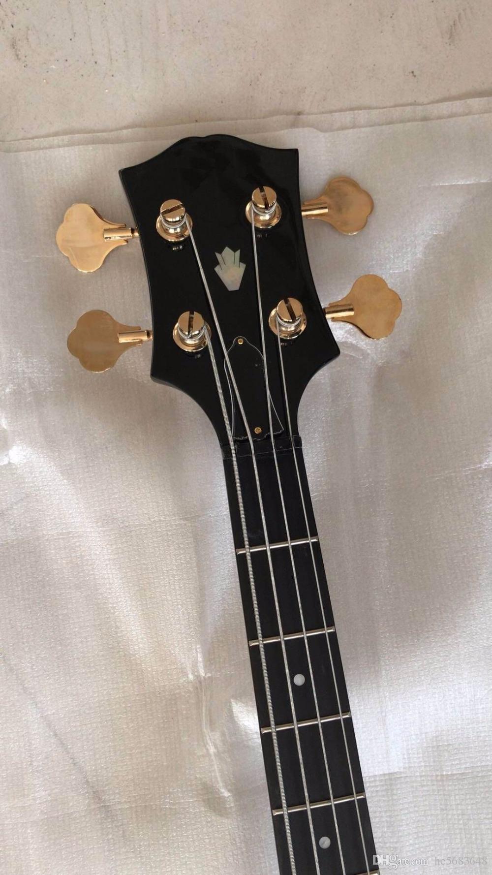 목탄 버스트에 도매 새로운 4 문자열 일렉트릭베이스 기타 세미 할로우 바디 171110