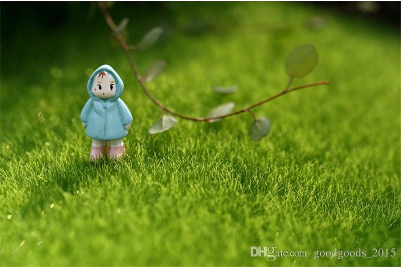 Sahte Moss Minyatür Bahçe Süs DIY Mantar Craft Pot Peri Düğün Noel Partisi Dekorasyon için Peri Yapay Çim Çim c462