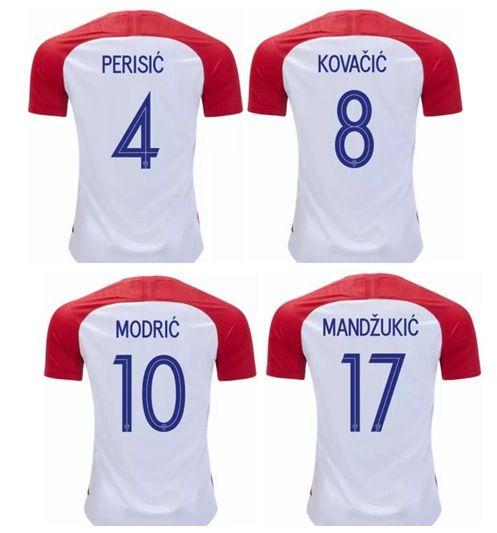 2018 MODRIC 10 MANDZUKIC 17 RAKTIC 7 Home Thailand Quality Soccer ... b28fbe122fdda