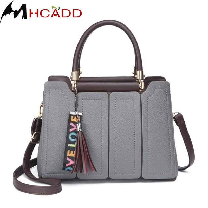 5303f8c25abe MHCADD Female Bag 2018 New Brand Fashion Tassel Women Leather Handbags  Designer Ladies Hand Bags Shoulder Casual Tote Bag Sac Purses For Sale  Reusable .