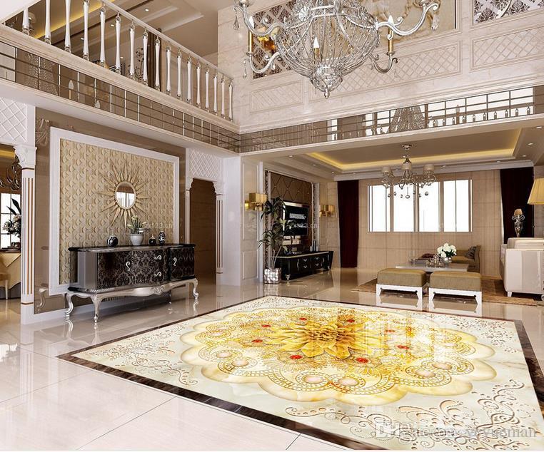 3D напольные покрытия гостиная украшения камень шаблон обои самоклеющиеся 3D напольная живопись обои home decor 3D