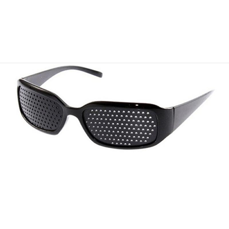 53ac52252e Black Square Pin Hole Sunglasses Unisex Vision Care Eyeglasses ...