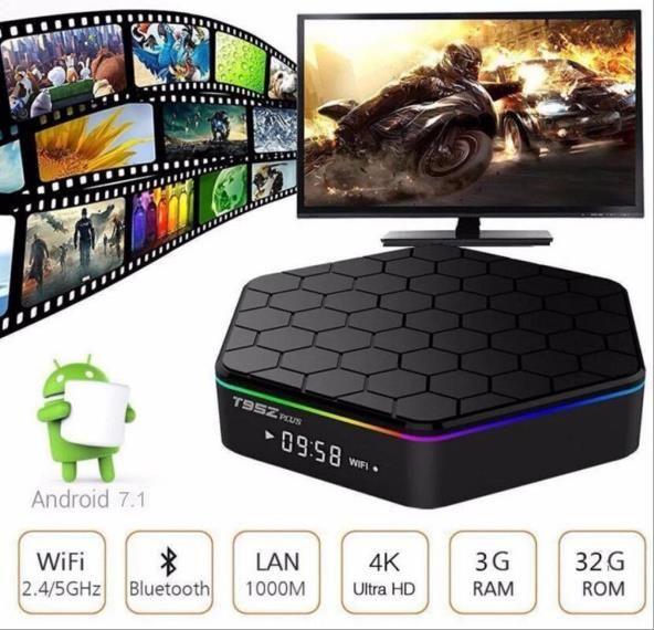 2017 T95Z Plus Android 6.0 TV Box Amlogic S912 Octa-Core 3G 32G Marshmallow Dual Wifi HDMI 4K Media Player VS H96 PRO PLUS