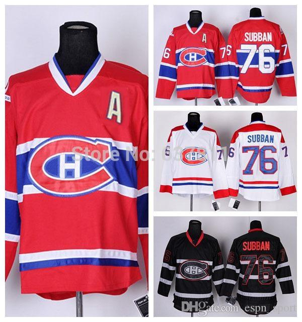 best sneakers 67fd6 608ec 2013 Men s Ice Hockey Jerseys Montreal Canadiens 76 P.K. Subban Jersey Red  Home Team Color Authentic Stitched Jersey CH logo