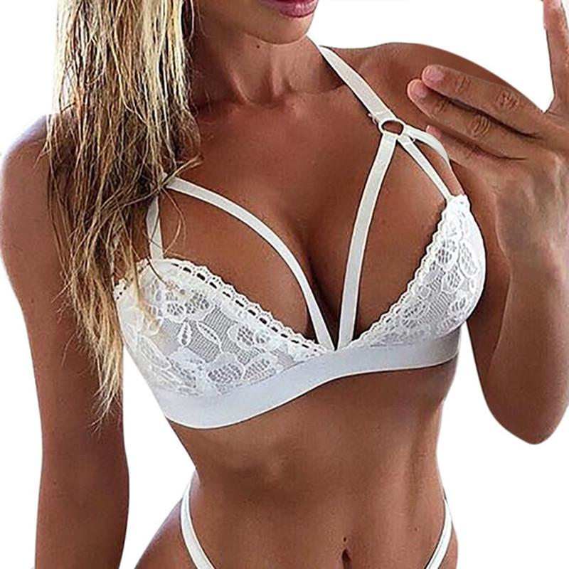 9aabf03ef7 2019 Plus Size Sheer Lace Bra Top 2018 Women Lingerie Corset Floral Lace  Bralette Bustier Ultrathin Bandage Tank Camis Crop Underwear From Octavi