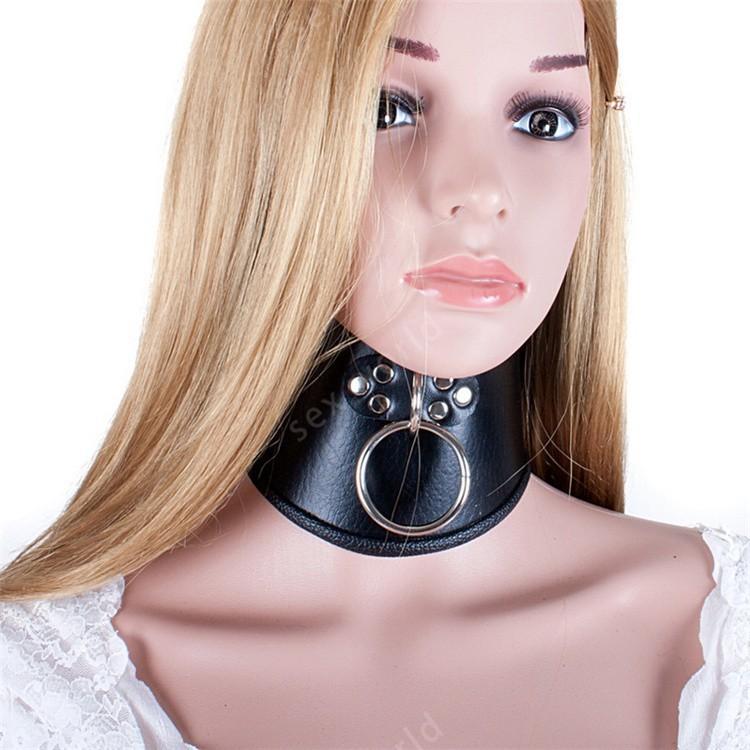 Pu Leather Bdsm Bondage Posture Neck Collar With Pull Ring Adjustable Collar Rings Belt Slave Bondage Strap Harness Sex Toys Free Online Games For Boys Free