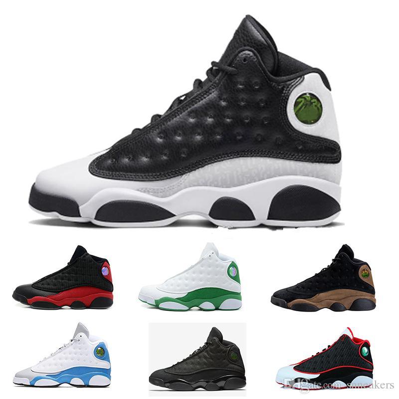 sneakers for cheap 8e492 375e5 Compre Nike Air Jordan Retro 13 Trainer Sports Shoes Con Box 2018 Fashion  New Sport Sneakers J13 Low Spurs Blanco Negro Zapatos De Baloncesto Sports  13 ...